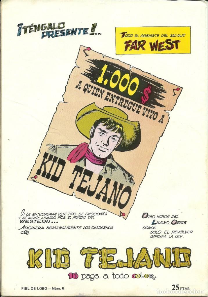 Tebeos: CÓMIC TEBEO PIEL DE LOBO. CONTRA LOS CANES SALVAJES. - Foto 2 - 214228128