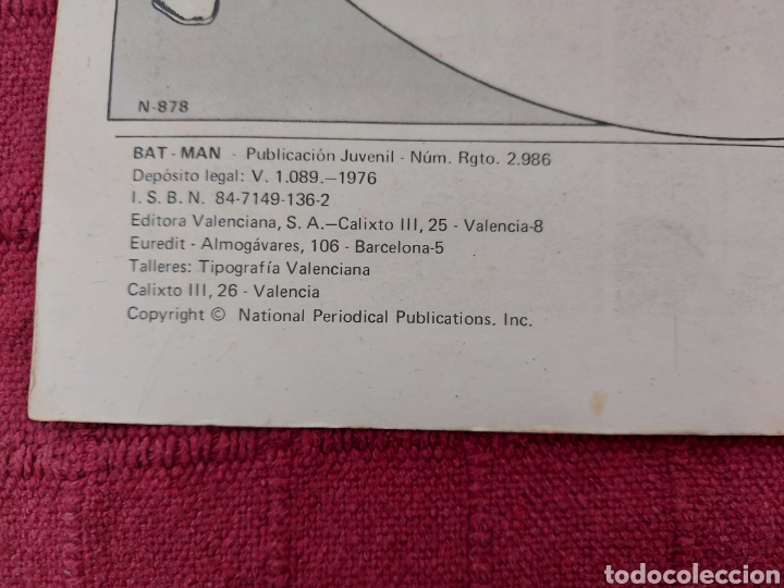 Tebeos: BATMAN-ÁLBUM GIGANTE EDITORIAL VALENCIANA 1976-COMIC SUPER HEROES - Foto 12 - 214254993