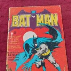 Tebeos: BATMAN-ÁLBUM GIGANTE EDITORIAL VALENCIANA 1976-COMIC SUPER HEROES. Lote 214254993