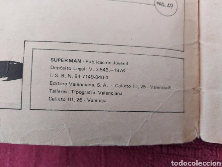 Tebeos: SUPERMAN ÁLBUM GIGANTE EDITORIAL VALENCIANA 1976- 4 AVENTURAS- COMIC EDICION LIMITADA-SUPER HEROES - Foto 13 - 214259052
