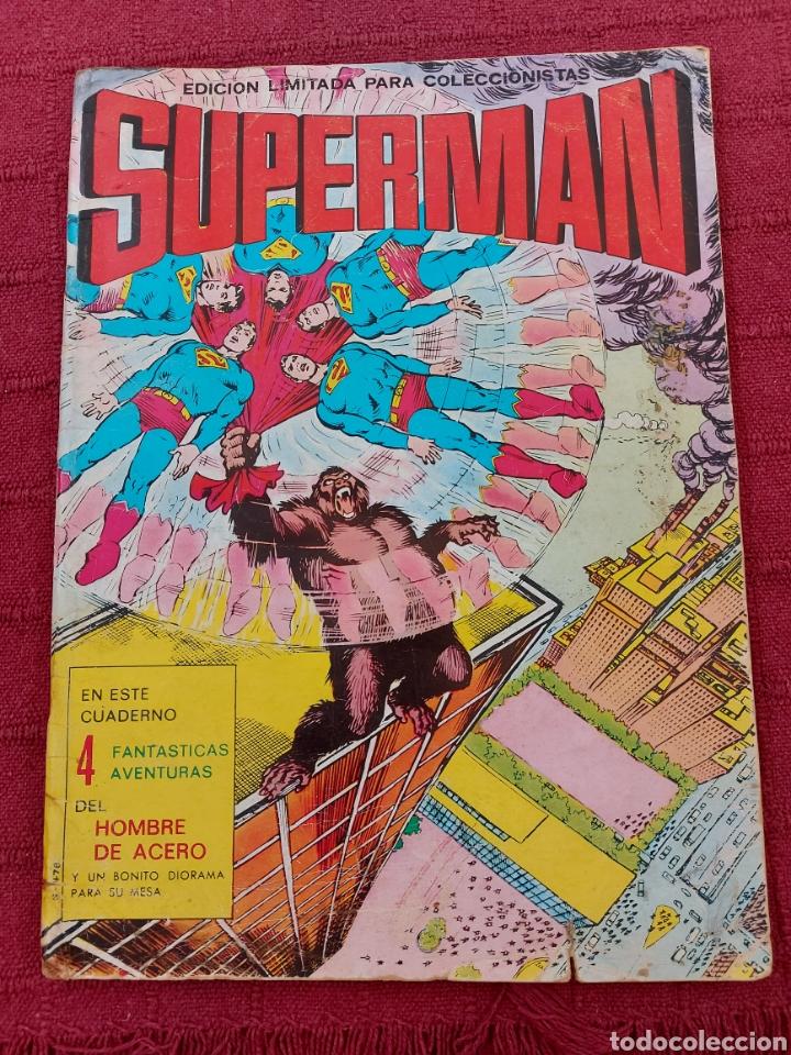 SUPERMAN ÁLBUM GIGANTE EDITORIAL VALENCIANA 1976- 4 AVENTURAS- COMIC EDICION LIMITADA-SUPER HEROES (Tebeos y Comics - Valenciana - Otros)