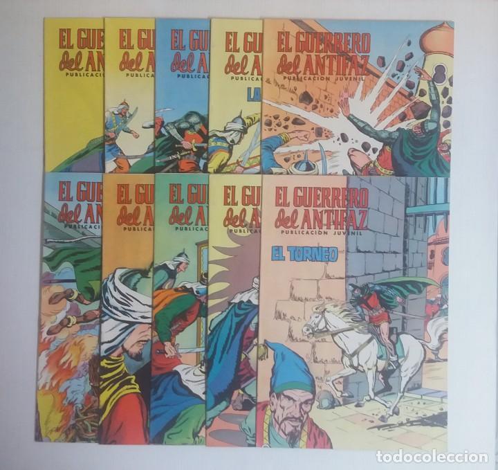 LOTE DE COMICS EL GUERRERO DEL ANTIFAZ, DIEZ NUMEROS (Tebeos y Comics - Valenciana - Guerrero del Antifaz)