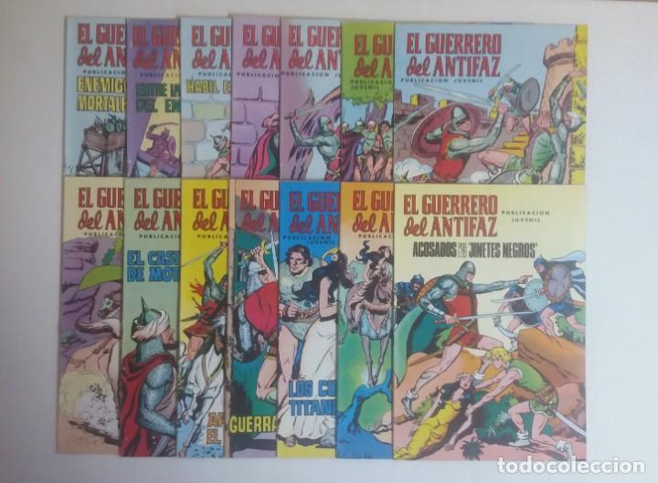 LOTE DE COMICS EL GUERRERO DEL ANTIFAZ, CATORCE NUMEROS (Tebeos y Comics - Valenciana - Guerrero del Antifaz)
