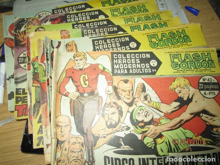LOTE TEBEOS FLASH GORDON SERIE B ORIGINAL 44 45 42 43 52 53 54 73 (Tebeos y Comics - Valenciana - Otros)