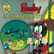 Tebeos: LIBROS ILUSTRADOS PUMBY Nº 11 - LA ISLA FLOTANTE - ED. VALENCIANA 1969 - UN POCO SUFRIDO. Lote 216891978