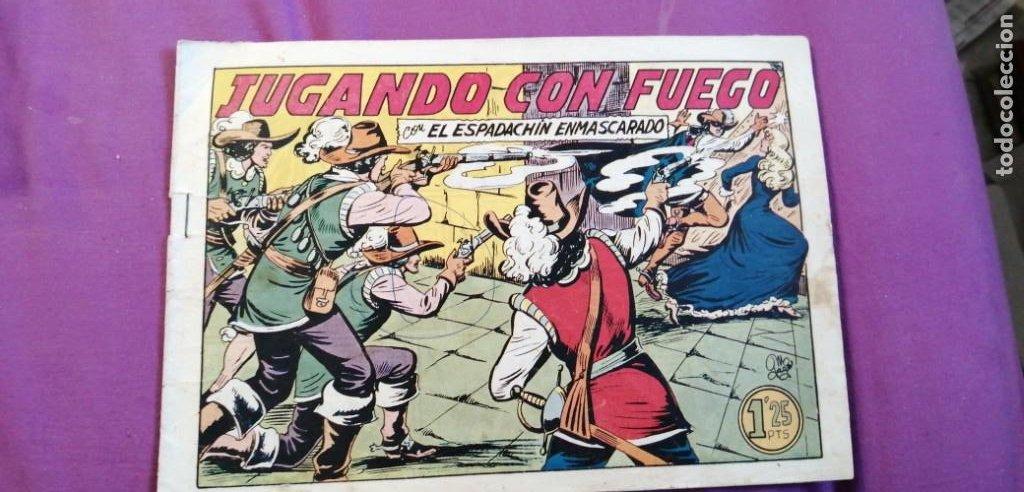 ESPADACHÍN ENMASCARADO JUGANDO CON FUEGO NÚMERO 23 (Tebeos y Comics - Valenciana - Espadachín Enmascarado)