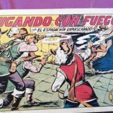 Tebeos: ESPADACHÍN ENMASCARADO JUGANDO CON FUEGO NÚMERO 23. Lote 217204937