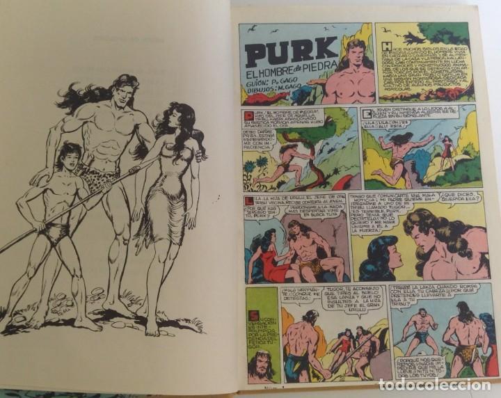 Tebeos: PURK, EL HOMBRE DE PIEDRA: TOMO 1 - 20 EPISODIOS - MANUEL GAGO - 1974 *** EDITORIAL VALENCIANA *** - Foto 9 - 218088762