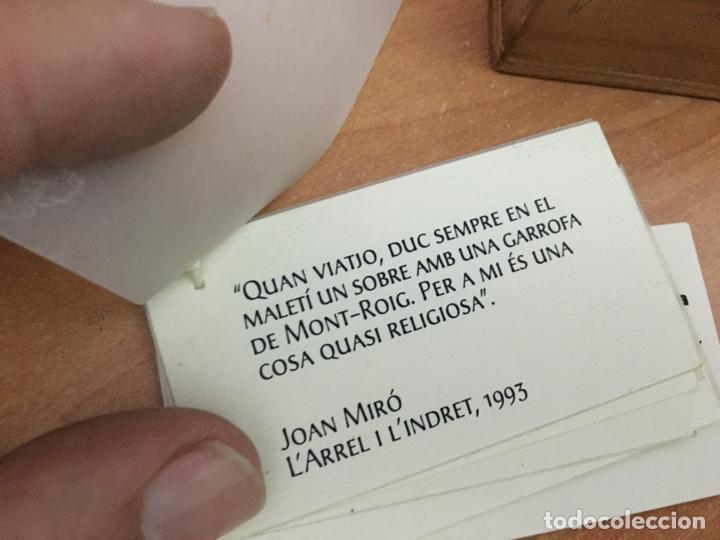 Tebeos: JOAN MIRO CAJA MADERA CON GARROFA ALGARROBA DE MONT-ROIG EN BRONCE FUNDACIO MIRO (COIB139) - Foto 4 - 218212990