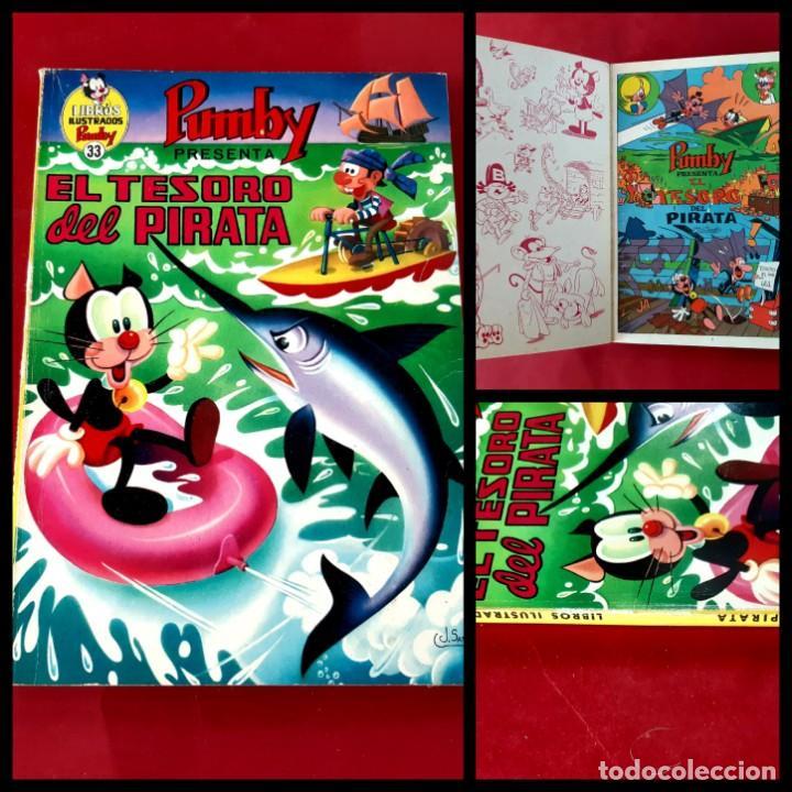 LIBROS ILUSTRADOS PUMBY - Nº 33 - EL TESORO DEL PIRATA -EXCELENTE ESTADO (Tebeos y Comics - Valenciana - Pumby)