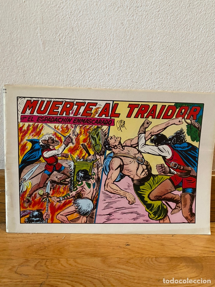 MUERTE AL TRAIDOR EL ESPADACHÍN ENMASCARADO NÚMERO 34 (Tebeos y Comics - Valenciana - Espadachín Enmascarado)