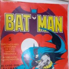 Tebeos: BATMAN - 5 AVENTURAS EL CASO QUE BATMAN NO PUDO RESOLVER - VALENCIANA 1976 - EN BUEN ESTADO. Lote 218422385