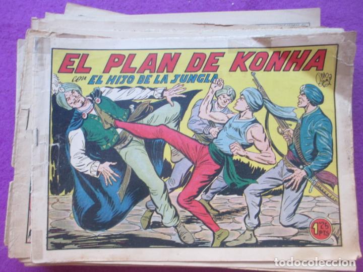 LOTE 35 TEBEOS EL HIJO DE LA JUNGLA VER NUMEROS ALMANAQUE 1958 ED. VALENCIANA ORIGINAL (Tebeos y Comics - Valenciana - Pequeño Luchador)