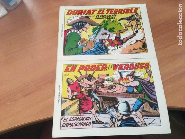 Tebeos: EL ESPADACHIN ENMASCARADO SEGUNDA EDICIÓN LOTE 65 EJEMPLARES (VALENCIANA ) (HAB3) - Foto 5 - 218721411