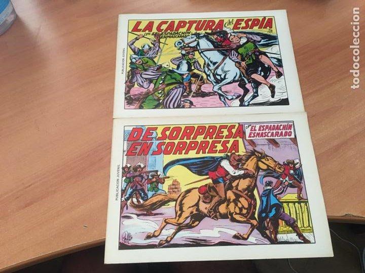 Tebeos: EL ESPADACHIN ENMASCARADO SEGUNDA EDICIÓN LOTE 65 EJEMPLARES (VALENCIANA ) (HAB3) - Foto 7 - 218721411