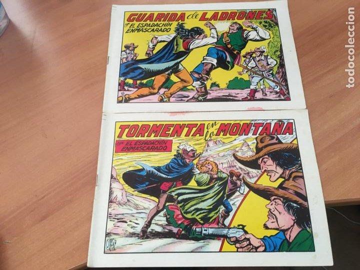 Tebeos: EL ESPADACHIN ENMASCARADO SEGUNDA EDICIÓN LOTE 65 EJEMPLARES (VALENCIANA ) (HAB3) - Foto 25 - 218721411
