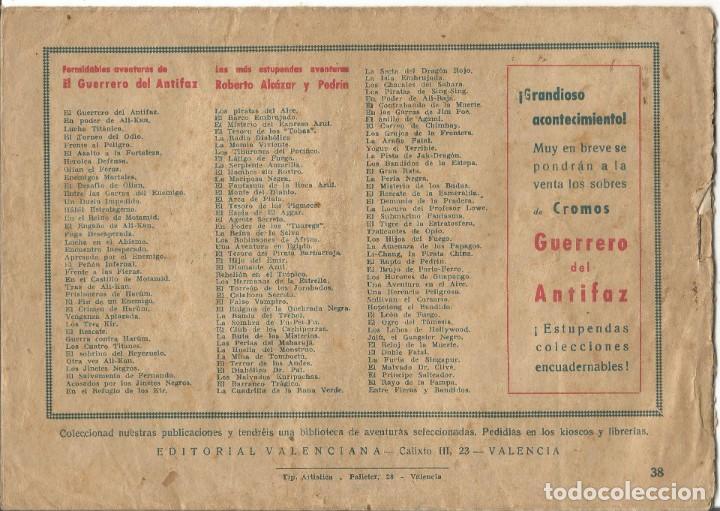 Tebeos: TEBEO EL GUERRERO DEL ANTIFAZ EDITORIAL VALENCIANA Nº 38 - Foto 2 - 218862913