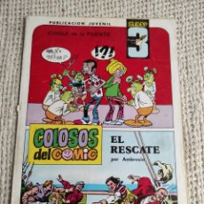Livros de Banda Desenhada: SUPER 3 Nº 1. COLOSOS DEL COMIC. CON AVENTURA DEL CAPITÁN TRUENO. Lote 219113622