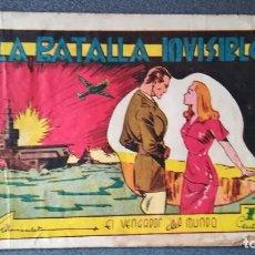 Tebeos: LA BATALLA INVISIBLE. EL VENGADOR DEL MUNDO. ORIGINAL 1942. Lote 219323260