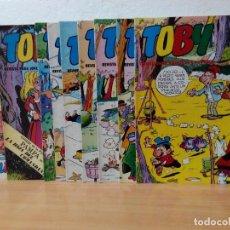 Tebeos: LOTE DE 9 TEBEOS TOBY .EDITORIAL VALENCIANA AÑO 1982. Lote 219391265