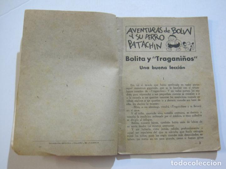 Tebeos: AVENTURAS DE BOLIN Y SU PERRO PATACHIN-BOLITA Y TRAGANIÑOS-EDITORIAL VALENCIANA-VER FOTOS-(K-581) - Foto 4 - 219555340