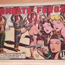 Tebeos: COMBATE FEROZ CON EL PEQUEÑO LUCHADOR Nº 43 ORIGINAL VALENCIANA 1945. Lote 220478302