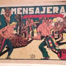 Tebeos: LA MENSAJERA CON EL PEQUEÑO LUCHADOR Nº 16 ORIGINAL VALENCIANA 1945. Lote 220479185
