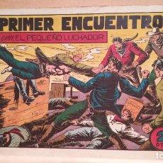 Tebeos: EL PRIMER ENCUENTRO CON EL PEQUEÑO LUCHADOR Nº 53 ORIGINAL VALENCIANA 1945. Lote 220479541