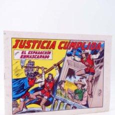 Tebeos: EL ESPADACHIN ENMASCARADO 2ª EDICIÓN 44. JUSTICIA CUMPLIDA (QUESADA / GAGO) VALENCIANA, 1982. OFRT. Lote 220917280