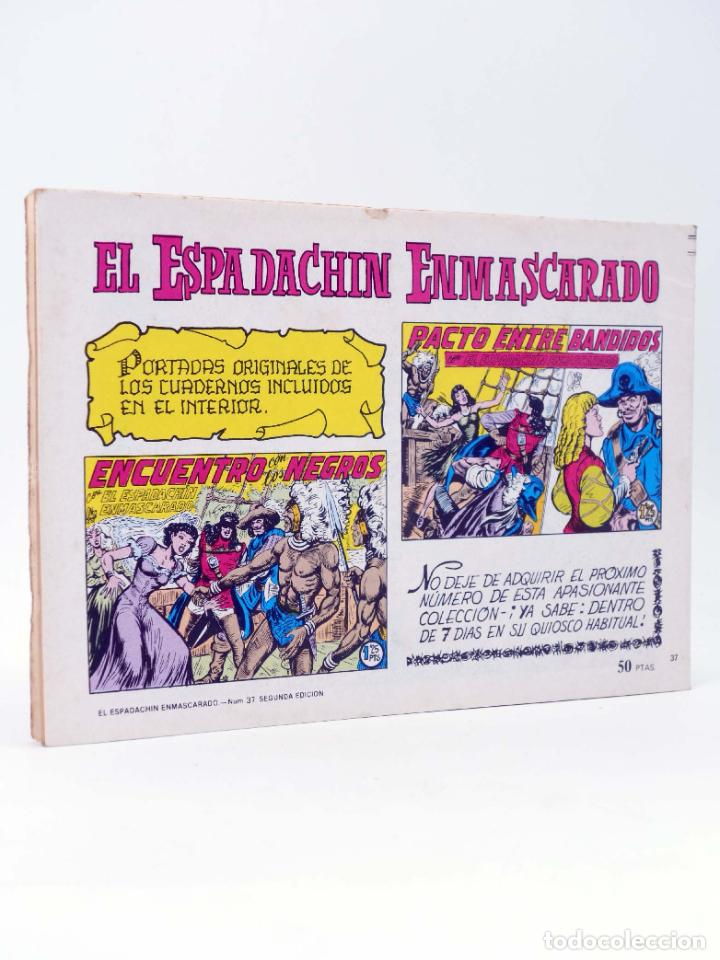 Tebeos: EL ESPADACHIN ENMASCARADO 2ª EDICIÓN 37. APARECE EL MESTIZO (Quesada / Gago) Valenciana, 1982. OFRT - Foto 2 - 220917286