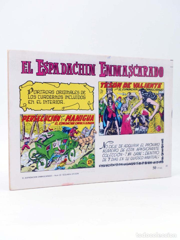 Tebeos: EL ESPADACHIN ENMASCARADO 2ª EDICIÓN 22. GUERRA A LOS PIRATAS (Quesada / Gago) 1981. OFRT - Foto 2 - 220917295