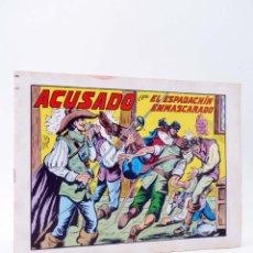 Tebeos: EL ESPADACHIN ENMASCARADO 2ª EDICIÓN 42. ACUSADO (QUESADA / GAGO) VALENCIANA, 1982. OFRT. Lote 220917303