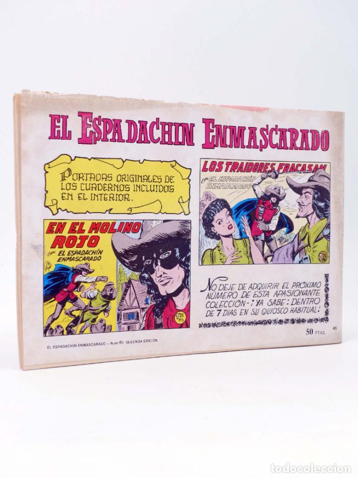 Tebeos: EL ESPADACHIN ENMASCARADO 2ª EDICIÓN 45. EN LA GUARIDA DEL TUERTO (Quesada / Gago) 1982. OFRT - Foto 2 - 220917310
