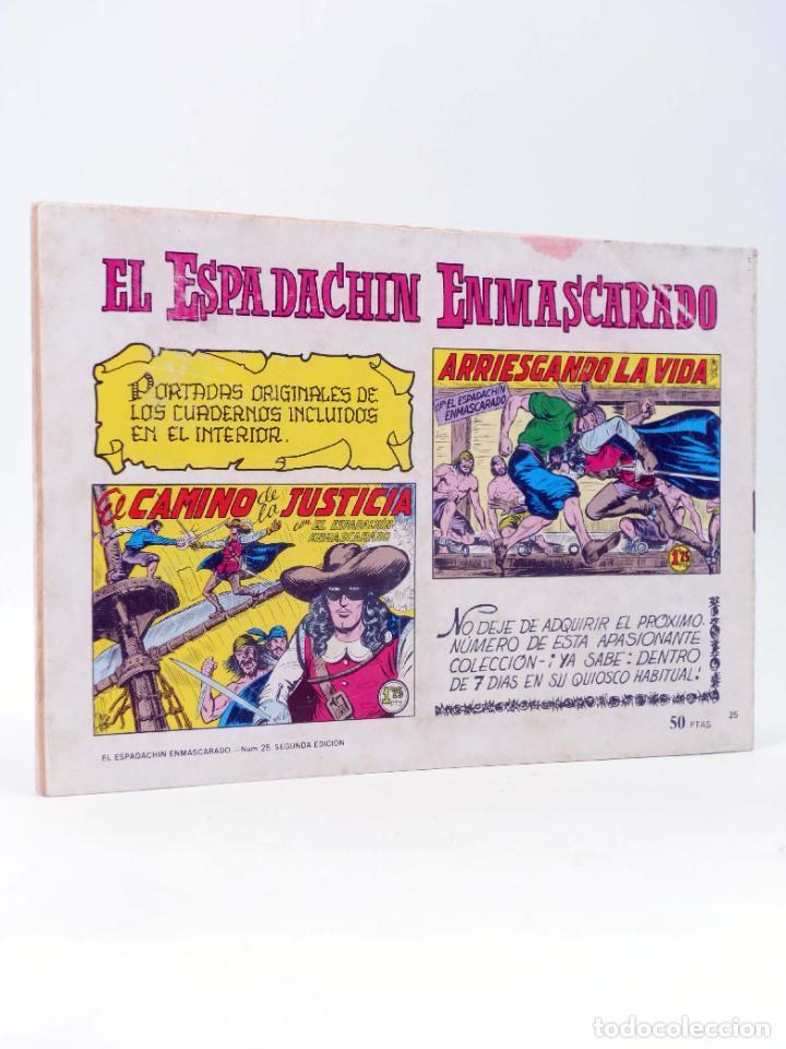 Tebeos: EL ESPADACHIN ENMASCARADO 2ª EDICIÓN 25. INFIERNO EN EL MAR (Quesada / Gago) Valenciana, 1981. OFRT - Foto 2 - 220917318
