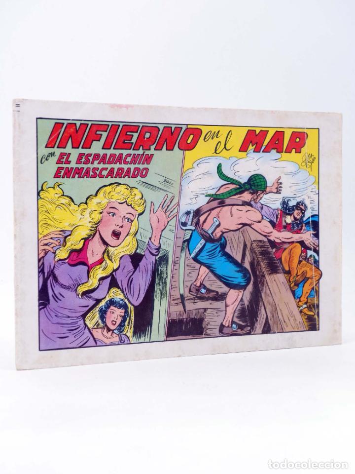 EL ESPADACHIN ENMASCARADO 2ª EDICIÓN 25. INFIERNO EN EL MAR (QUESADA / GAGO) VALENCIANA, 1981. OFRT (Tebeos y Comics - Valenciana - Espadachín Enmascarado)