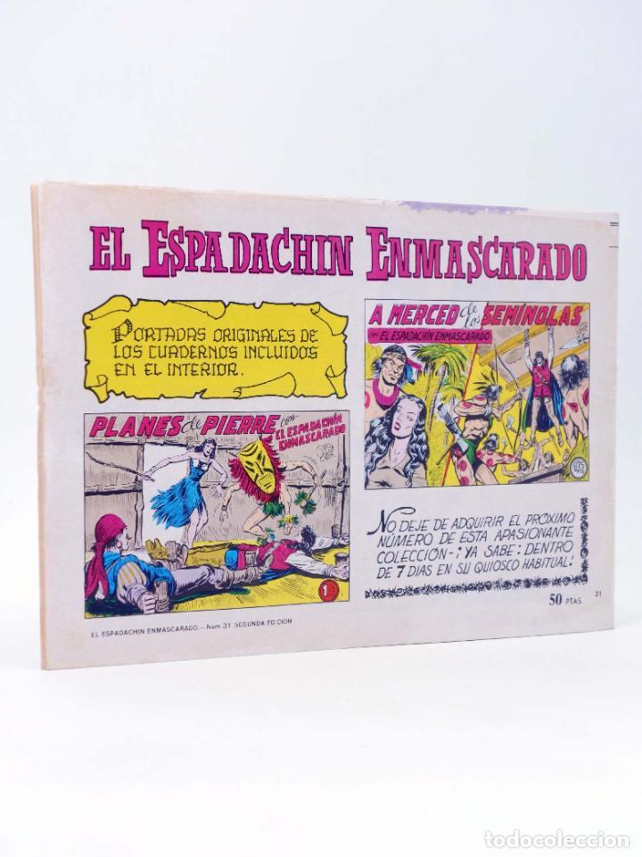 Tebeos: EL ESPADACHIN ENMASCARADO 2ª EDICIÓN 31. OTRA VEZ EL LOBO (Quesada / Gago) Valenciana, 1981. OFRT - Foto 2 - 220917323