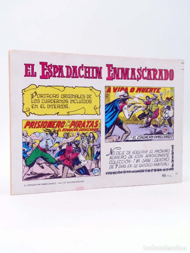 Tebeos: EL ESPADACHIN ENMASCARADO 2ª EDICIÓN 21. EMPRESA DE TITÁN (Quesada / Gago) Valenciana, 1981. OFRT - Foto 2 - 220917335