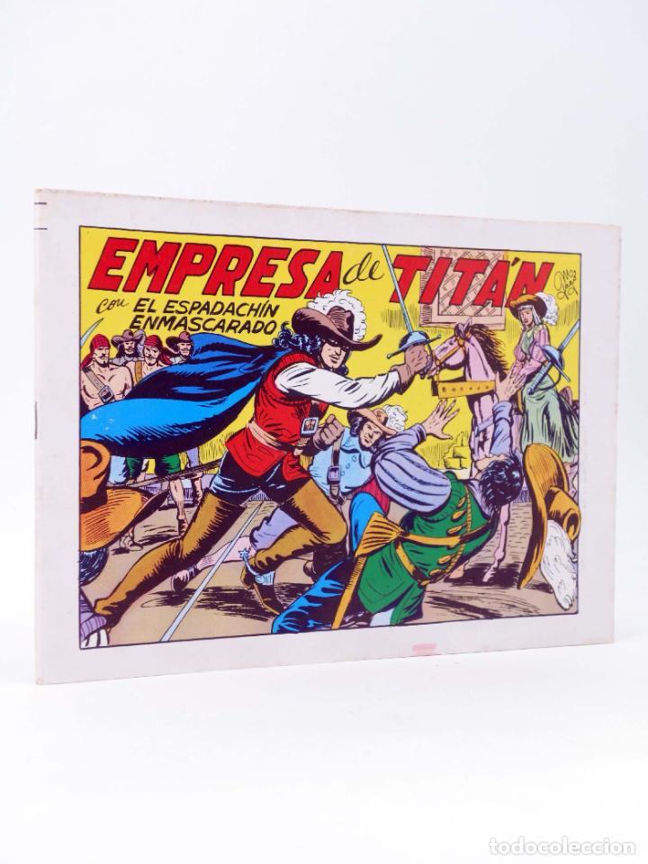 EL ESPADACHIN ENMASCARADO 2ª EDICIÓN 21. EMPRESA DE TITÁN (QUESADA / GAGO) VALENCIANA, 1981. OFRT (Tebeos y Comics - Valenciana - Espadachín Enmascarado)