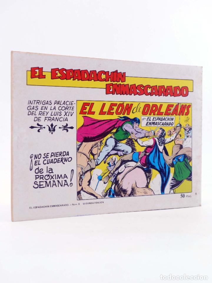 Tebeos: EL ESPADACHIN ENMASCARADO 2ª EDICIÓN 8. EN PODER DEL VERDUGO (Quesada / Gago) Valenciana, 1981. OFRT - Foto 2 - 220917340