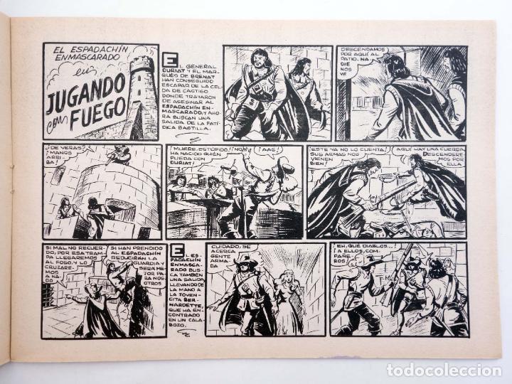 Tebeos: EL ESPADACHIN ENMASCARADO 2ª EDICIÓN 8. EN PODER DEL VERDUGO (Quesada / Gago) Valenciana, 1981. OFRT - Foto 4 - 220917340