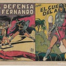 Tebeos: EL GUERRERO DEL ANTIFAZ Nº 60 ORIGINAL VALENCIANA 1941 BUEN ESTADO -- LEER ENVIOS. Lote 221146363