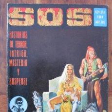 Tebeos: SOS HISTORIAS DE TERROR, INTRIGA, MISTERIO Y SUSPENSE NUM. 21. AÑO 1. ED. VALENCIANA 1975. Lote 221446078