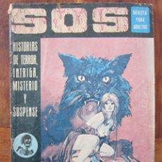 Tebeos: SOS HISTORIAS DE TERROR, INTRIGA, MISTERIO Y SUSPENSE NUM. 6. AÑO 1. ED. VALENCIANA 1975. Lote 221446546