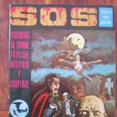 Tebeos: SOS HISTORIAS DE TERROR, INTRIGA, MISTERIO Y SUSPENSE NUM. 1. AÑO 1. ED. VALENCIANA 1975 BUENO. Lote 221446826