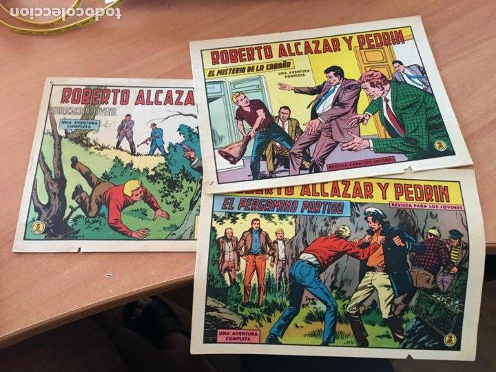 ROBERTO ALCAZAR Y PEDRIN LOTE Nº 755, 758, 1064 (ED, VALENCIANA) (COIB146) (Tebeos y Comics - Valenciana - Roberto Alcázar y Pedrín)