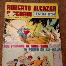 Tebeos: COMIC DE ROBERTO ALCAZAR Y PEDRIN EN EXTRA Nº 24 LOS PIRATAS DE SING-SING EN PODER DE ALI-BAJA. Lote 221582287