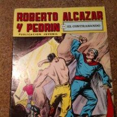 Tebeos: COMIC DE ROBERTO ALCAZAR Y PEDRIN EN EL CONTRABANDO Nº 141. Lote 221735282