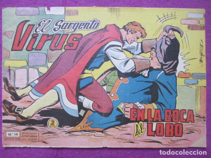 TEBEO EL SARGENTO VIRUS Nº 19 EN LA BOCA DEL LOBO ED. VALENCIANA ORIGINAL (Tebeos y Comics - Valenciana - Otros)