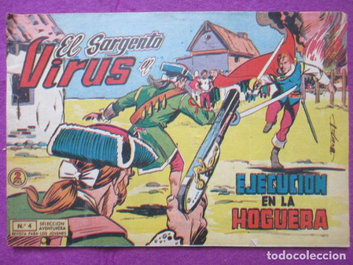 TEBEO EL SARGENTO VIRUS Nº 4 EJECUCION EN LA HOGUERA ED. VALENCIANA ORIGINAL (Tebeos y Comics - Valenciana - Otros)