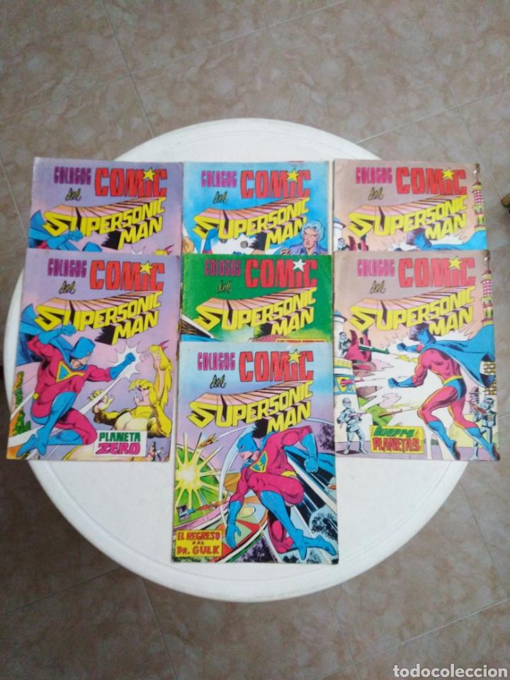 LOTE DE 7 CÓMIC COLOSOS DEL CÓMIC SUPERSONIC MAN (Tebeos y Comics - Valenciana - Colosos del Comic)